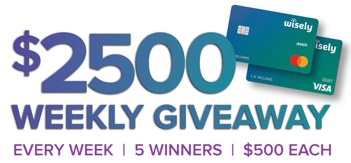Wisely Pay $2500 Sweepstakes